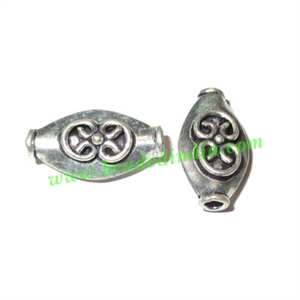 Sterling Silver .925 Fancy Beads, size: 17x9x6mm, weight: 1.51 grams.