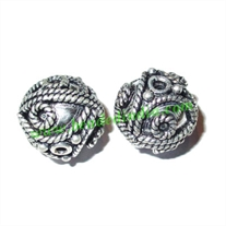 Sterling Silver .925 Fancy Beads, size: 17x17mm, weight: 6.34 grams.