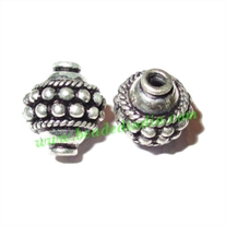 Sterling Silver .925 Fancy Beads, size: 10x9mm, weight: 1.53 grams.