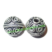 Sterling Silver .925 Fancy Beads, size: 14x15mm, weight: 4.73 grams.