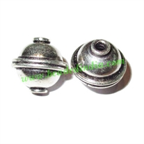 Sterling Silver .925 Fancy Beads, size: 13x12.5mm, weight: 1.94 grams.