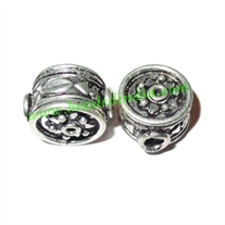Sterling Silver .925 Fancy Beads, size: 14.5x9.5mm, weight: 3.62 grams.