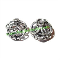 Sterling Silver .925 Fancy Beads, size: 16x16mm, weight: 3.1 grams.