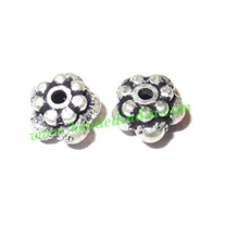 Sterling Silver .925 Fancy Beads, size: 5x7mm, weight: 0.98 grams.