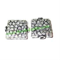 Sterling Silver .925 Fancy Beads, size: 17x14x9mm, weight: 2.06 grams.