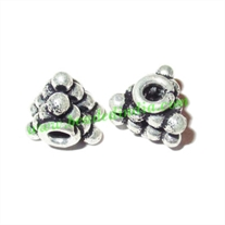 Sterling Silver .925 Fancy Beads, size: 7x7.5mm, weight: 1.39 grams.
