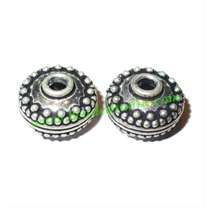 Sterling Silver .925 Fancy Beads, size: 9x14mm, weight: 3.18 grams.