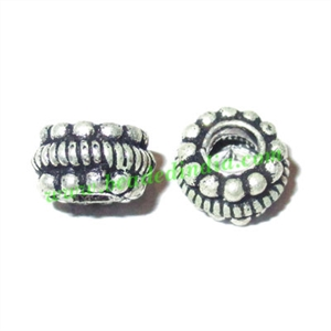 Sterling Silver .925 Fancy Beads, size: 5x8.5mm, weight: 1.09 grams.