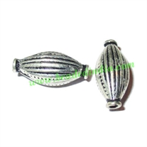 Sterling Silver .925 Fancy Beads, size: 18.5x8mm, weight: 1.21 grams.