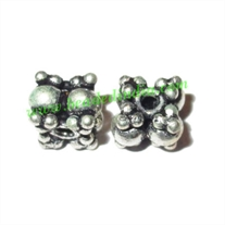 Sterling Silver .925 Fancy Beads, size: 5x6mm, weight: 0.92 grams.