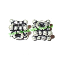 Sterling Silver .925 Fancy Beads, size: 8x9mm, weight: 2.4 grams.