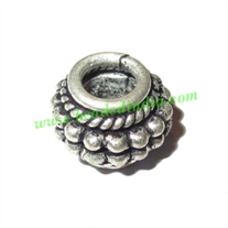 Silver Plated Fancy Beads, size: 9x12mm, weight: 3.1 grams.