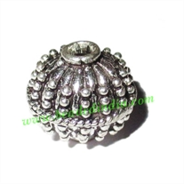 Sterling Silver .925 Fancy Beads, size: 13.5x14.5mm, weight: 3.75 grams.