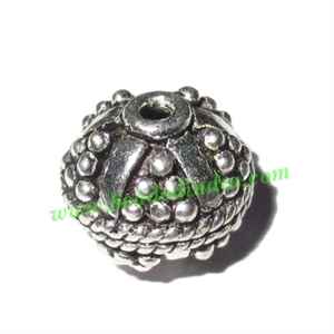 Sterling Silver .925 Fancy Beads, size: 10x10.5mm, weight: 1.97 grams.