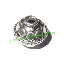 Sterling Silver .925 Fancy Beads, size: 10x10mm, weight: 1.61 grams.