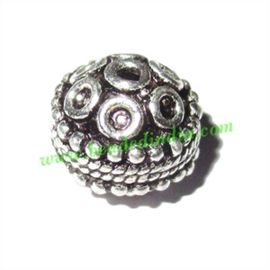 Sterling Silver .925 Fancy Beads, size: 7.5x10.5mm, weight: 1.76 grams.