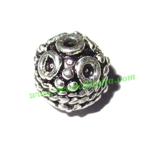 Sterling Silver .925 Fancy Beads, size: 8x9mm, weight: 1.54 grams.