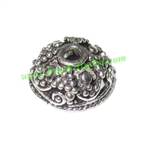 Silver Plated Caps, size: 6x12.5mm, weight: 1.47 grams.