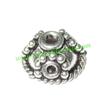 Silver Plated Caps, size: 5x10.5mm, weight: 0.96 grams.