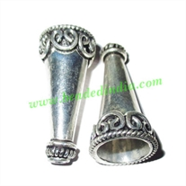 Sterling Silver .925 Cones, size: 35x16mm, weight: 6.94 grams.