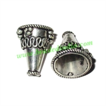Silver Plated Cones, size: 19.5x15.5mm, weight: 3.83 grams.