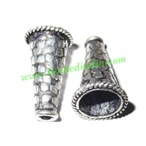 Silver Plated Cones, size: 21x12mm, weight: 1.99 grams.