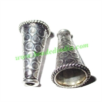 Sterling Silver .925 Cones, size: 20.5x12mm, weight: 1.88 grams.