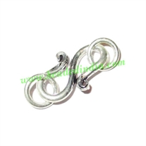Silver Plated S Hooks, size when expanded: 17x10mm with 6mm ring, weight: 1.31 grams.