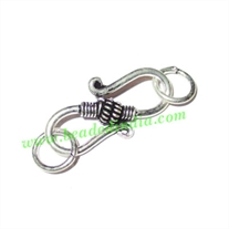 Sterling Silver .925 S Hooks, size when expanded: 25x12x5mm with 6mm ring, weight: 2.02 grams.