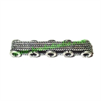 Silver Plated Spacer Bars, size: 8x7x39mm, weight: 4.03 grams.