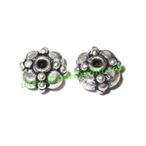 Silver Plated Spacers, size: 4x7mm, weight: 0.89 grams.