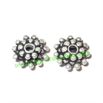 Silver Plated Spacers, size: 4x9mm, weight: 0.87 grams.