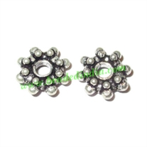 Silver Plated Spacers, size: 4x11mm, weight: 1.36 grams.