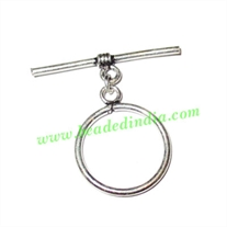 Silver Plated Toggle Clasps, size when expanded: 30x31mm, weight: 1.94 grams.