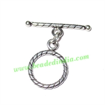 Sterling Silver .925 Toggle Clasps, size when expanded: 27x27x2mm, weight: 2 grams.