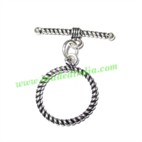 Sterling Silver .925 Toggle Clasps, size when expanded: 33x27x2mm, weight: 2.59 grams.