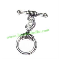 Sterling Silver .925 Toggle Clasps, size when expanded: 29x21x2mm, weight: 2.53 grams.