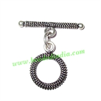 Silver Plated Toggle Clasps, size when expanded: 29x29x2.5mm, weight: 2.82 grams.
