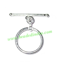 Silver Plated Toggle Clasps, size when expanded: 32x29x2mm, weight: 2.44 grams.