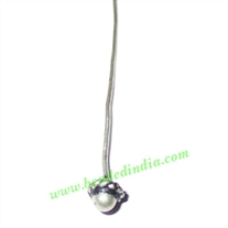 Sterling Silver .925 Headpin size: 1 inch (25 mm), head size : 4x3mm, weight: 0.29 grams.