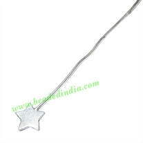 Sterling Silver .925 Headpin, size: 2 inch (51 mm), head size : 7mm, weight: 0.38 grams.