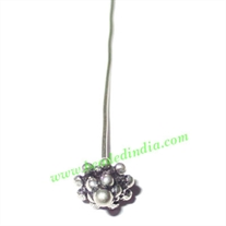 Sterling Silver .925 Headpin size: 0.5 inch (12.5 mm), head size : 7x4.5mm, weight: 0.53 grams.