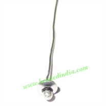 Sterling Silver .925 Headpin size: 3 inch (76 mm), head size : 4x5mm, weight: 0.37 grams.