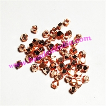 Solid brass metal copper plated nugget beads, size: 2.5mm, weight 0.072 grams