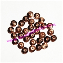 Solid brass metal copper plated beads, size: 2.5x5mm, weight 0.226 grams