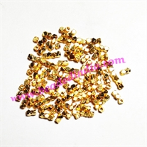 Solid brass metal gold plated nugget beads, size: 2mm, weight 0.042 grams