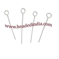 Sterling Silver Eyepin size: 3.0 inch (76 mm), head size : 2.5mm, weight: 0.21 grams.