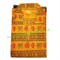half sleeve short yoga kurta in cotton, size : chest 112 x height 69 x sleeve 25 centimeters.